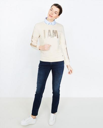 Zandkleurige sweater